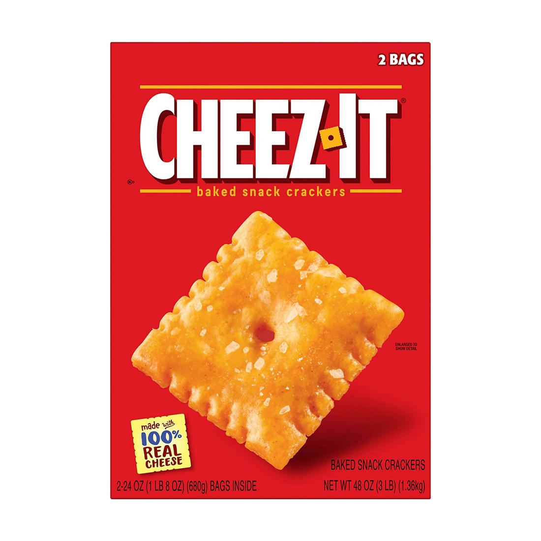 graphic regarding Cheez It Coupon Printable titled Cheez-It Crackers, 48 oz.