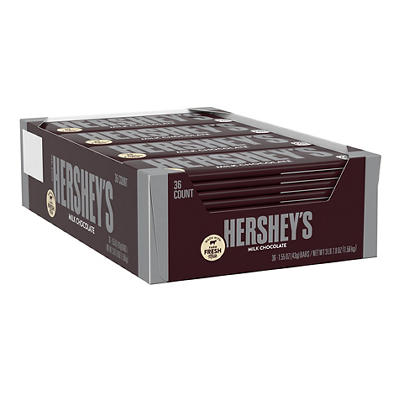 Hershey's Milk Chocolate Bars, 36 ct.