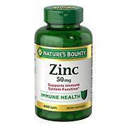 Nature's Bounty Zinc 50 mg, 400 ct.