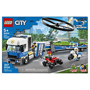 LEGO City Police Helicopter Transport 60244 Building Kit, 317 pc.