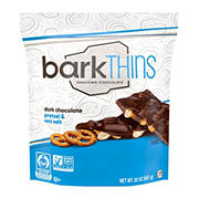 barkTHINS Dark Choc Pretzels and Sea Salt