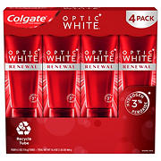 Colgate Optic White Renewal High Impact White Teeth Whitening Toothpaste, 4 ct.