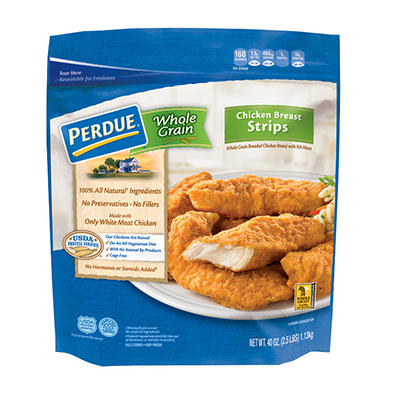 Perdue Whole Grain Breaded Chicken Breast Strips, 2.5 lbs.