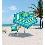 Tommy Bahama 7' Beach Market Style Umbrella with Sand Anchor
