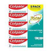 Colgate Total Fresh Mint Stripe Gel, 5 ct.