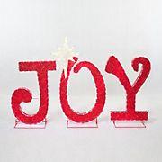 "Berkley Jensen Joy Sign Sculpture 42.5"" LED Light"