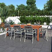 Amazonia Tucson 9-Pc. Wood & Rope Outdoor Patio Dining Set