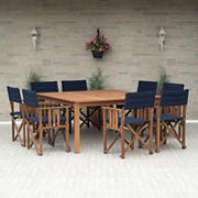 Amazonia Chandler 9-Pc. Wood Outdoor Patio Dining Set