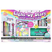 Just My Style 80-Pg. Secret Message Lock and Key Light-Up Diary