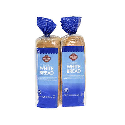 Wellsley Farms White Bread, 2 pk./20 oz.