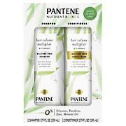 Pantene Nutrient Blends Hair Volume Multiplier Shampoo and Conditioner, 17.9 fl oz.