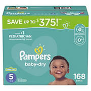 Pampers Baby Dry Diapers, Size 5, 168 ct.