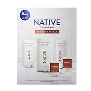 Native Coconut and Vanilla Deodorant, 5 ct.