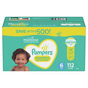 Pampers Swaddlers Diapers, Size 6, 112 ct.