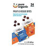 Pure Organic Fruit and Veggie Bites Variety Pack, 24 ct.