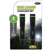 Police Security Flashlights 1,000-Lumen LED Rechargeable Flashlight, 2 pk.