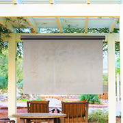 Sol Armor 8' x 8' Cordless Outdoor Sun Shade with Valance - Mohave