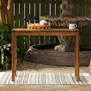 W. Trends Outdoor Acacia Wood Outdoor Bistro Table - Dark Brown