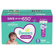 Pampers Cruisers Diapers, Size 5, 144 ct.