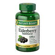 Nature's Bounty Elderberry Softgels 630 mg, 240 ct.