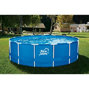 """Blue Wave 15' Round x 48""""D Active Frame Pool Package with Cover"""