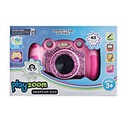 PlayZoom Snapcam Duo Digital Camera with 4x Zoom and Learning Games - Fuchsia Glitter