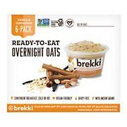 Brekki Vanilla Cinnamon Overnight Oats Breakfast Bowl, 6 pk.