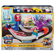 Paw Patrol Total City Rescue Playset with 4-Pc. Diecast Vehicles