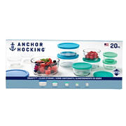Anchor Hocking 20-Pc. Food Storage Set with Multi-color Lids