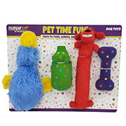 Multipet International Dog Toy Primary Colors, 4 ct.