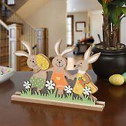 "National Tree Company 9"" Easter Bunny Wood Decor Piece"