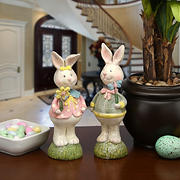 "National Tree Company 8"" Bunny Couple"