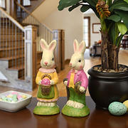 "National Tree Company 9"" Bunny Couple"