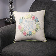 "National Tree Company 16"" ""Happy Easter"" Pillow"