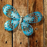 "National Tree Company 18"" Blue Butterfly Wall Decoration"