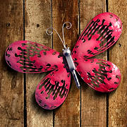 "National Tree Company 18"" Pink Butterfly Wall Decoration"