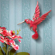"National Tree Company 16"" Pink Bird Wall Decoration"