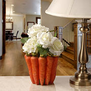 "National Tree Company 8"" Carrot Flower Pot"