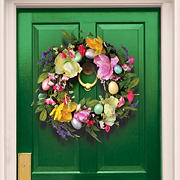 "National Tree Company 20"" Easter Eggs and Tulips Wreath"