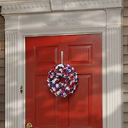 """National Tree Company 14"""" Patriotic Hydrangea Wreath"""