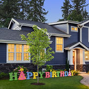 National Tree Company 15' LED Happy Birthday Decoration