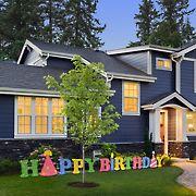 National Tree Company 15' LED Happy Birthday Decoration