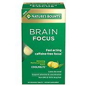 Nature's Bounty Brain Focus Brain Supplements Chewable Tablets, 60 ct.