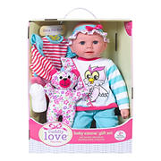 "18"" Huggably Soft Doll and Playset - Baby Emma Owl"