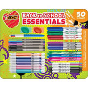 BIC Back to School Essentials Pen and Markers Set, 50 ct.