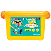 BIC 120-Pc. Ultra Washable Kids Coloring Markers Set