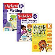 Brain Quest Kindergarten Workbook Bundle