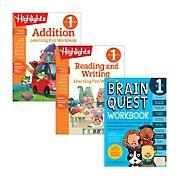 Brain Quest First Grade Workbook Bundle