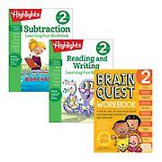 Brain Quest Second Grade Workbook Bundle