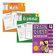Brain Quest Fourth Grade Workbook Bundle